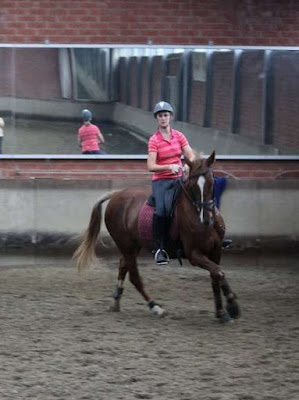Horse riding in Belgium while working at an olympic stables