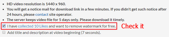 Request video download page screenshot