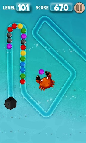 android Crab Revenge : Marble Shooter Screenshot 2