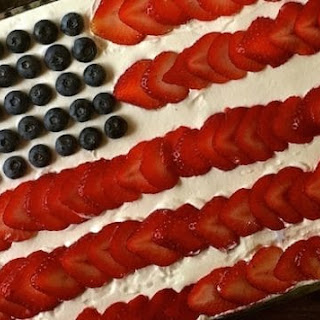 Red White and Blue No-Bake Icebox Cake.