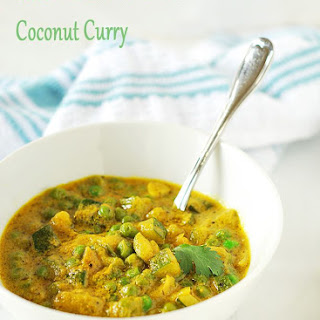 Zucchini and Green Peas Coconut Curry.