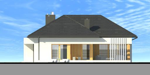 New House 8 - Elewacja tylna