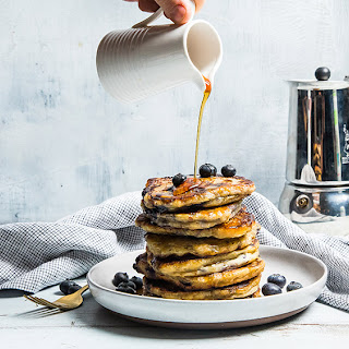 Blueberry Buttermilk Protein Waffles and Pancakes.
