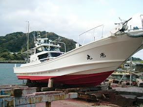 Photo: 寒い!寒い中、何とか船底掃除完了! スピードアップ間違いない!!