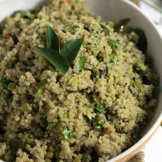 Indian-Style Quinoa and Peas [Vegan].