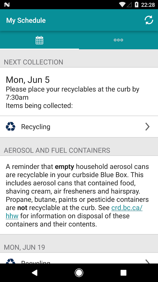 RecycleCRD- screenshot