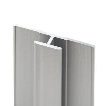DecoDesign - Zubehör Profil - Flächenverbinder - Alu-Natur (01), Länge 2550 mm
