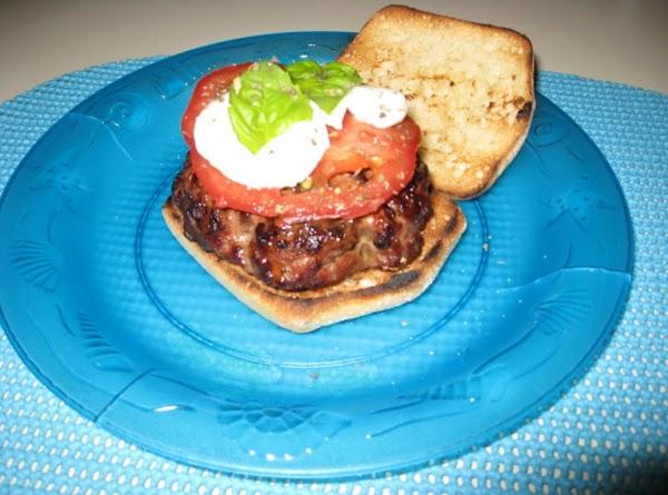 Italian Caprese Burger Recipe