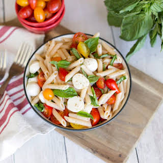 Tomato and Basil Pasta Salad with Penne.