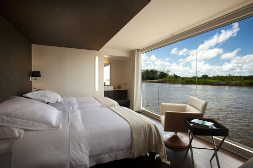 Aria-cabin-2 - Wake up to a spectacular view of the Amazon when you sail aboard Aria on an Avalon cruise.