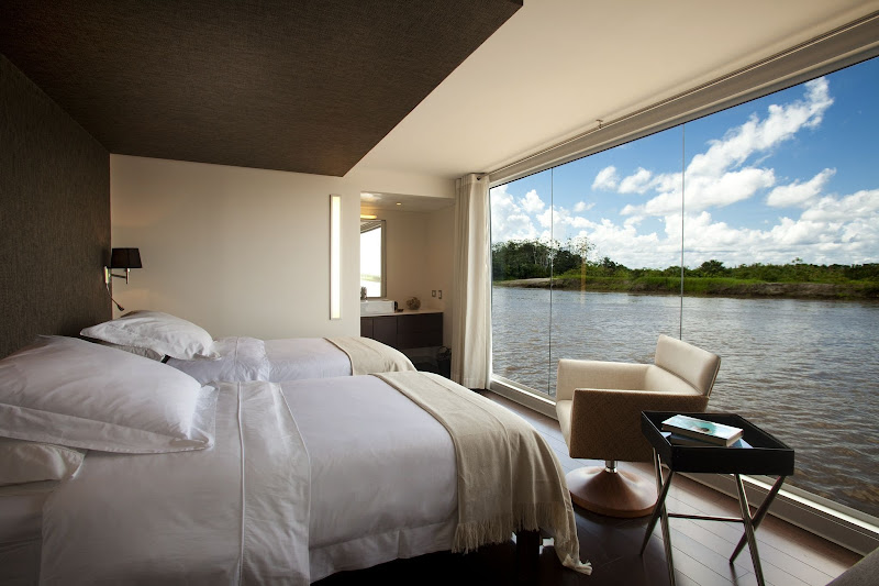 Wake up to a spectacular view of the Amazon when you sail aboard Aria on an Avalon cruise.