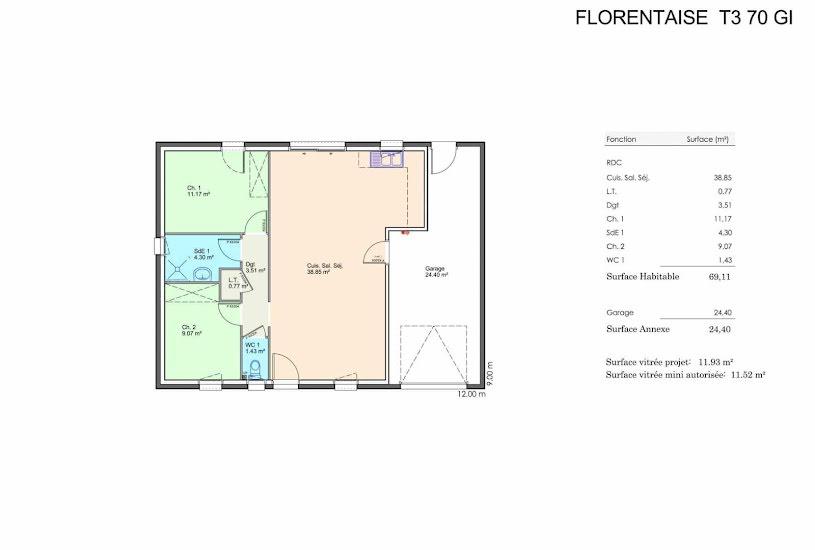 Vente Terrain + Maison - Terrain : 1500m² - Maison : 100m² à Le Champ-Saint-Père (85540)