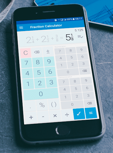 Fraction calculator: easy solve fractions problems 1.27 screenshots 1