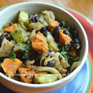 Black Bean & Veggie Bowl (Gluten Free/ Dairy Free/ Vegan).
