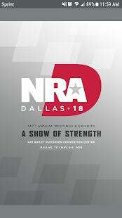 2018 NRA AM & Exhibits screenshot