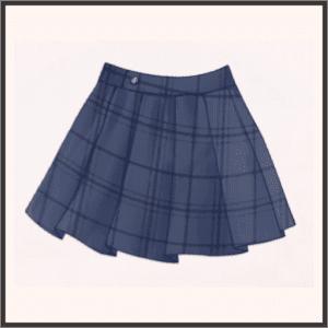 プリーツミニスカート(青)