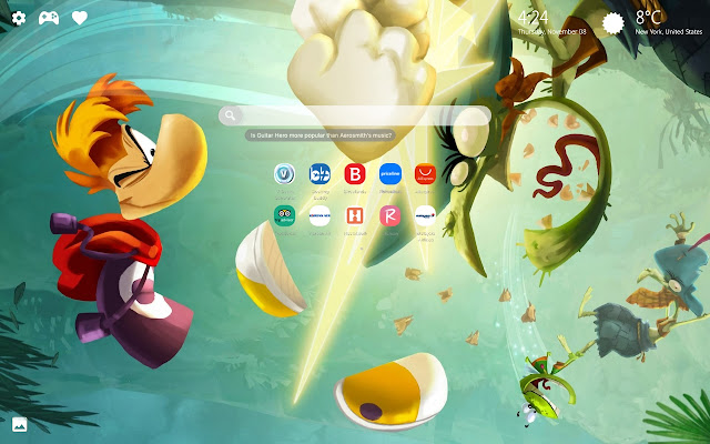Rayman Legends Wallpaper HD New Tab Theme