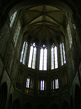 """Photo: The """"lightness"""" of the choir reflects the architectural advances that has been made since the nave's construction."""