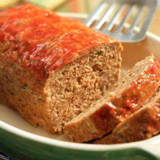 Triple Meatloaf with Tangy Ketchup Glaze.