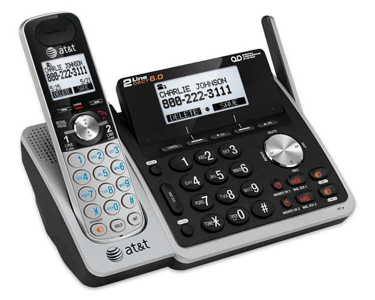 bb9853c0b AT T TL88102 DECT 6.0 2-Line Expandable Corded Cordless Phone. Item  Description.  with Answering System ...