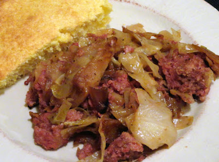 Fried Cabbage and Corned Beef Recipe