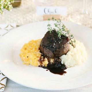 Steak Filet with Rich Balsamic Glaze.