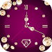 Gold Diamond Moving Clock Wallpaper Icon