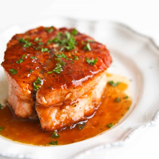 Salmon with Magical Butter Sauce.