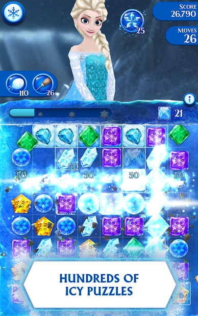 Disney Frozen Free Fall - Play Frozen Puzzle Games Android App Screenshot