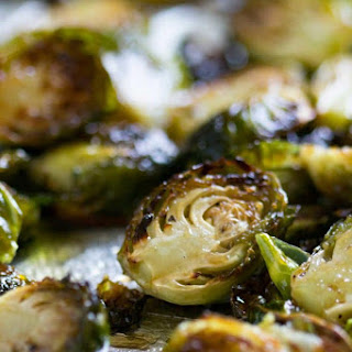 Honey Balsamic Roasted Brussels Sprouts.