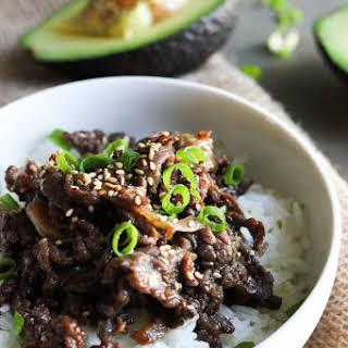 Korean beef Bulgogi.