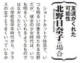 北野日奈子は小・中学時代にイジメられていた?詳細