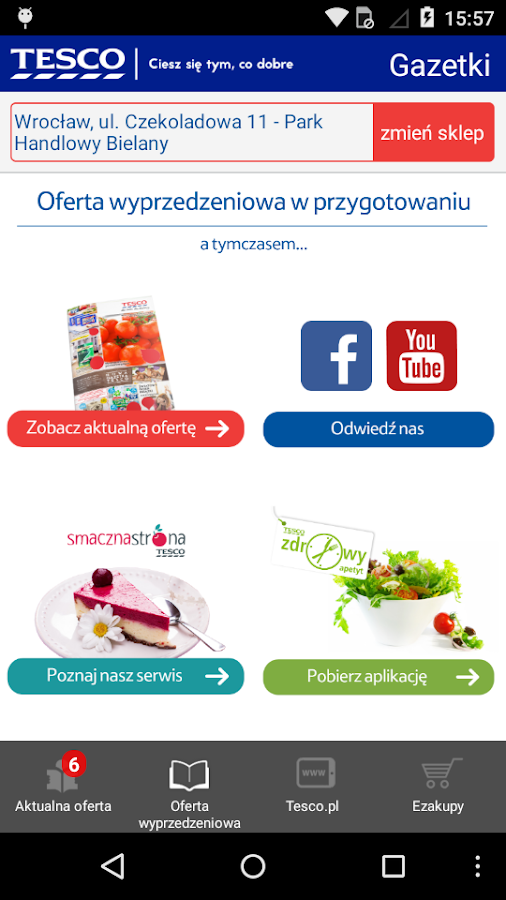 Gazetki Tesco- screenshot