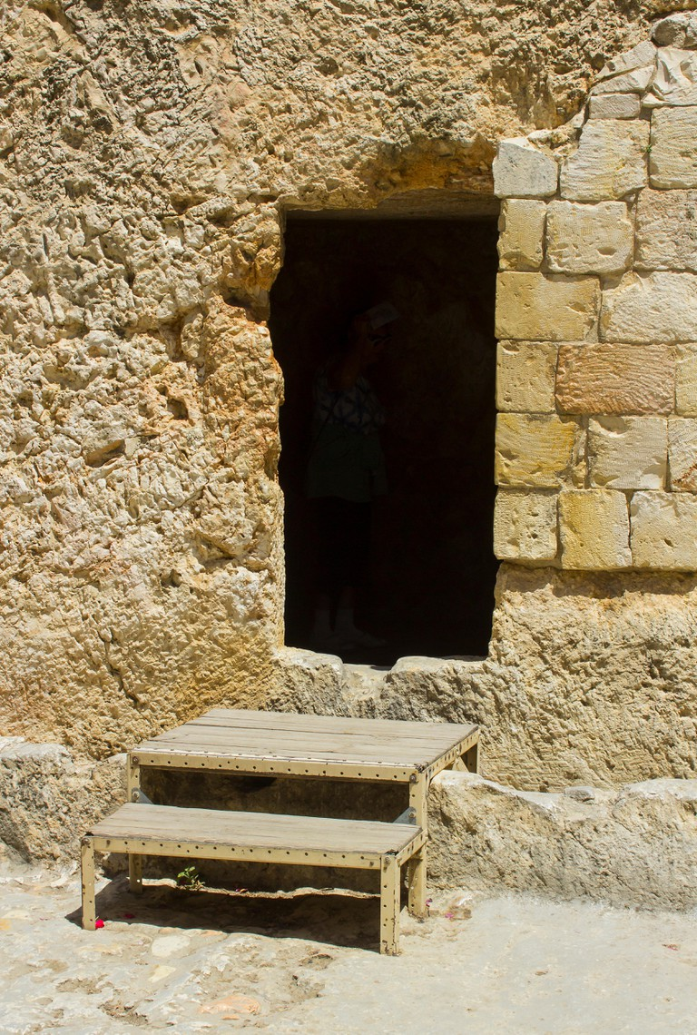 May 2018 The Garden Tomb in Jerusalem Israel which is reckoned by some to be the burial place of Jesus Christ and the scene of his glorious resurrecti