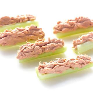 Buffalo Tuna Salad Stuffed Celery.