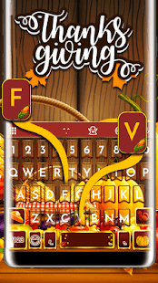 Happy Thanksgiving Day Keyboard Theme - náhled