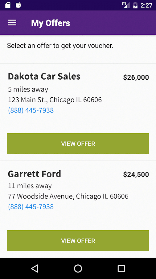 Cars.com Quick Offer- screenshot