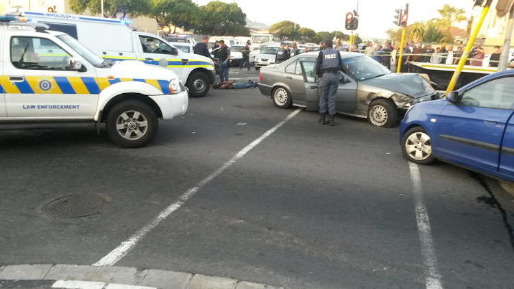 Two alleged hijackers were shot dead by police on Thursday afternoon.
