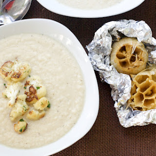 Cauliflower and Roasted Garlic Soup.