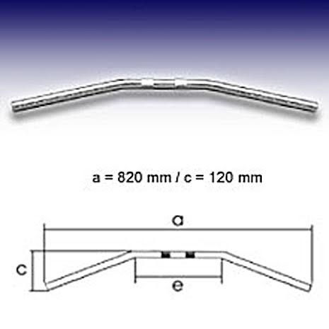 FEHLING Handlebar Drag Bar Medium, 7/8 inch, 82cm