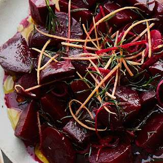 Roasted Beets with Grapefruit and Rosemary.