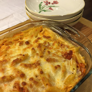 RED-AND-WHITE MOSTACCIOLI