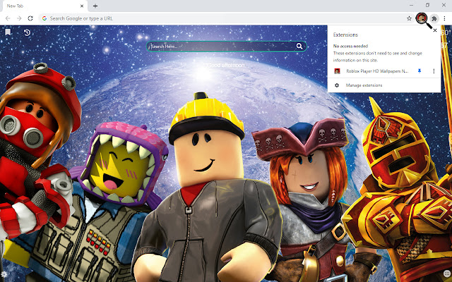 Roblox Player HD Wallpapers New Tab