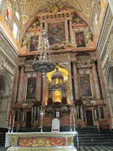 Photo: This church, located in the center of the Great Mosque, had an elaborate alter. When Christians moved to Córdoba for the first time in the 13th century, they were able to live together with the Muslims in peace for centuries. This church inside the mosque demonstrates the respect each group had for one another.