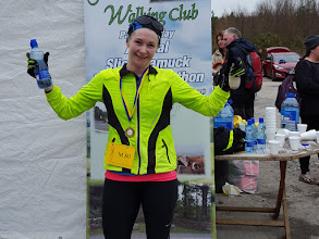 Photo: First lady home in the Slievenamuck Marathon 2016, Anita Barry from St Joseph's Athletics Club, Kilkenny. The Marathon took place on March 20th, 2016.