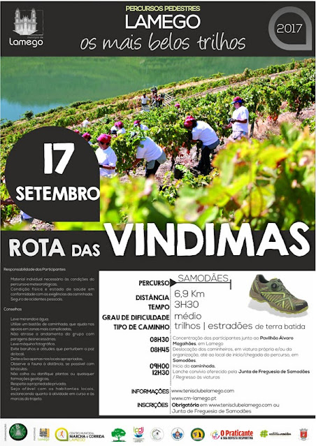 Programa – Rota das Vindimas – Lamego – 17 de setembro de 2017