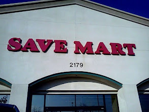 Photo: The Save Mart sign, my mom, my daughters and I were ready to shop! We shop here at least once a week.