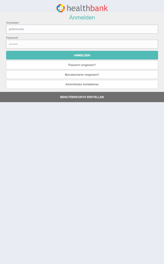 healthbank mobile – Screenshot