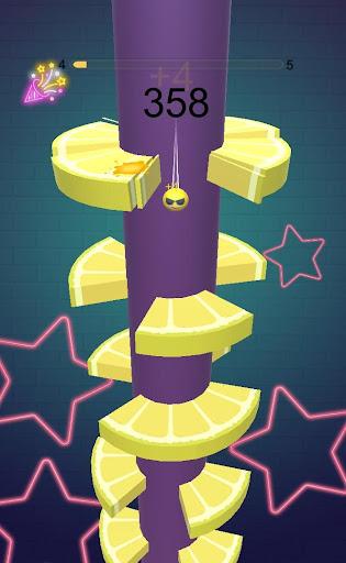 Fruit Helix Crush Game : Ball Helix Jump Game apktram screenshots 2