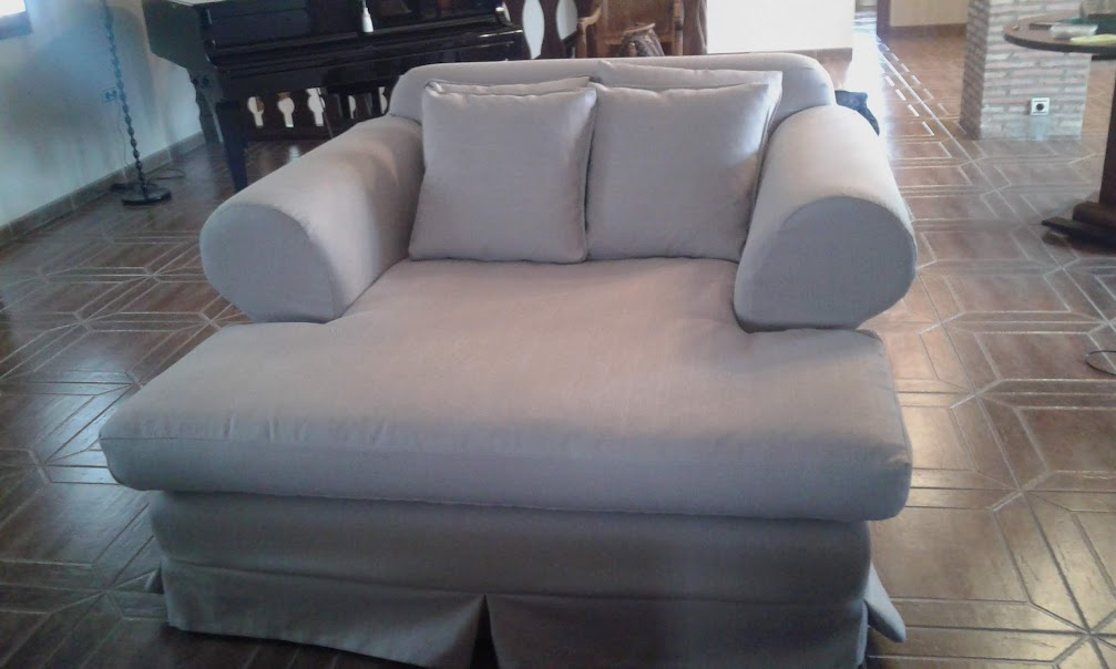 Funda a medida para sofá chaise-longue